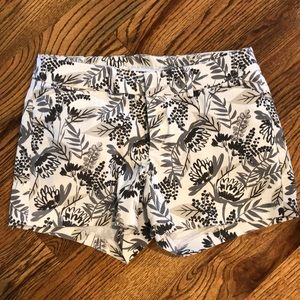 Black & Gray Old Navy Floral Pixie Shorts